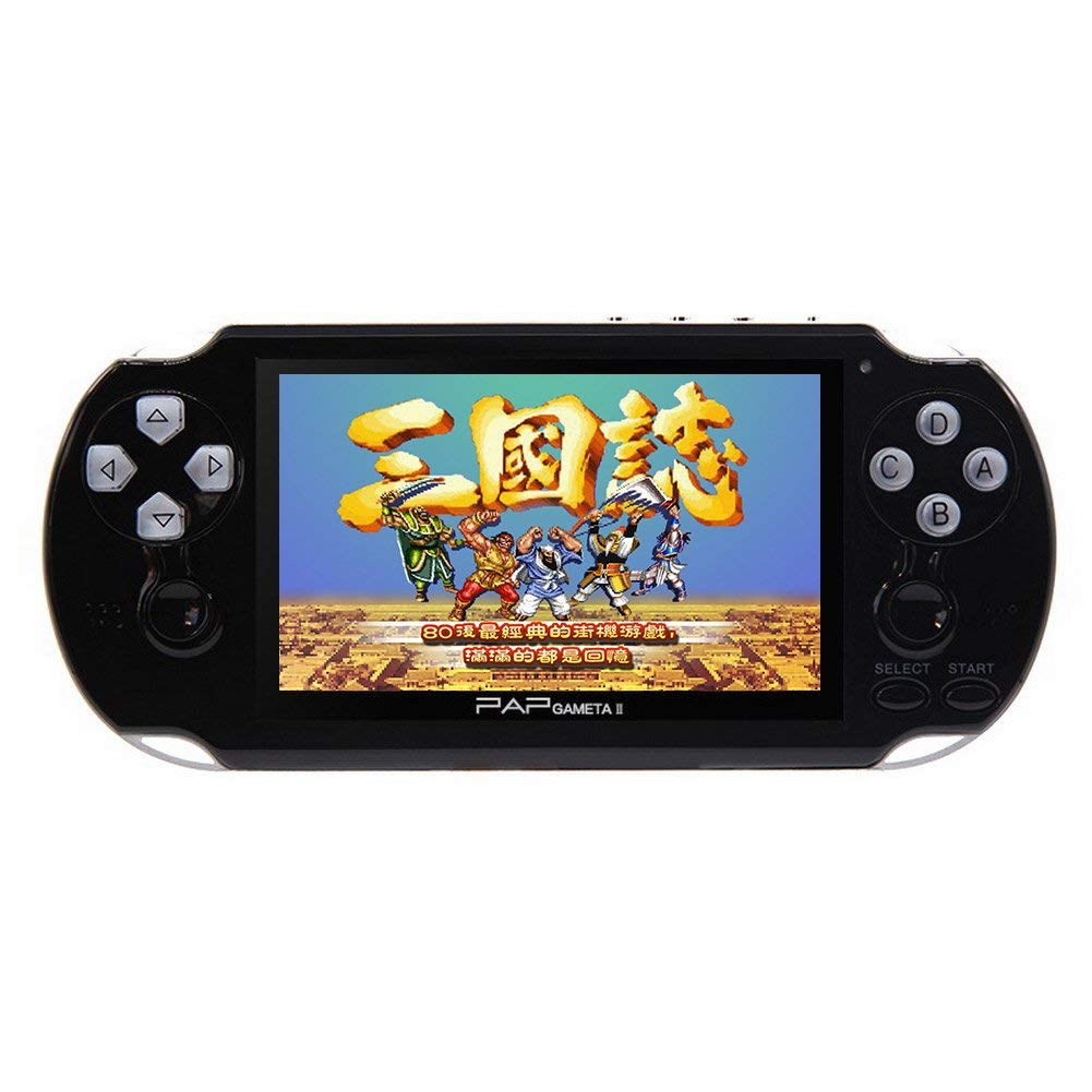 CZT Dual core 4.3 inch Handheld Game Console Video Game Console 16GB Built in 3000 CPS/NEOGEO/GBA/GBC/GB/SFC/MD/FC/SMS/GG Games MpS Player DV DC (Black) by CZT (Image #5)