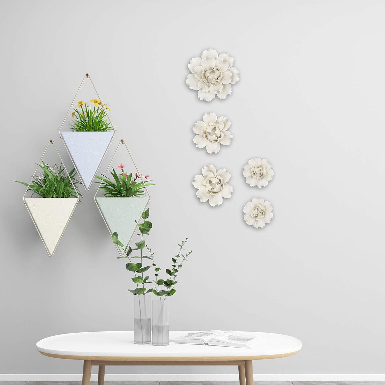 Art Céramique Fleur Wall Hanging Craft artificielle stéréoscopique Peony Lily decor