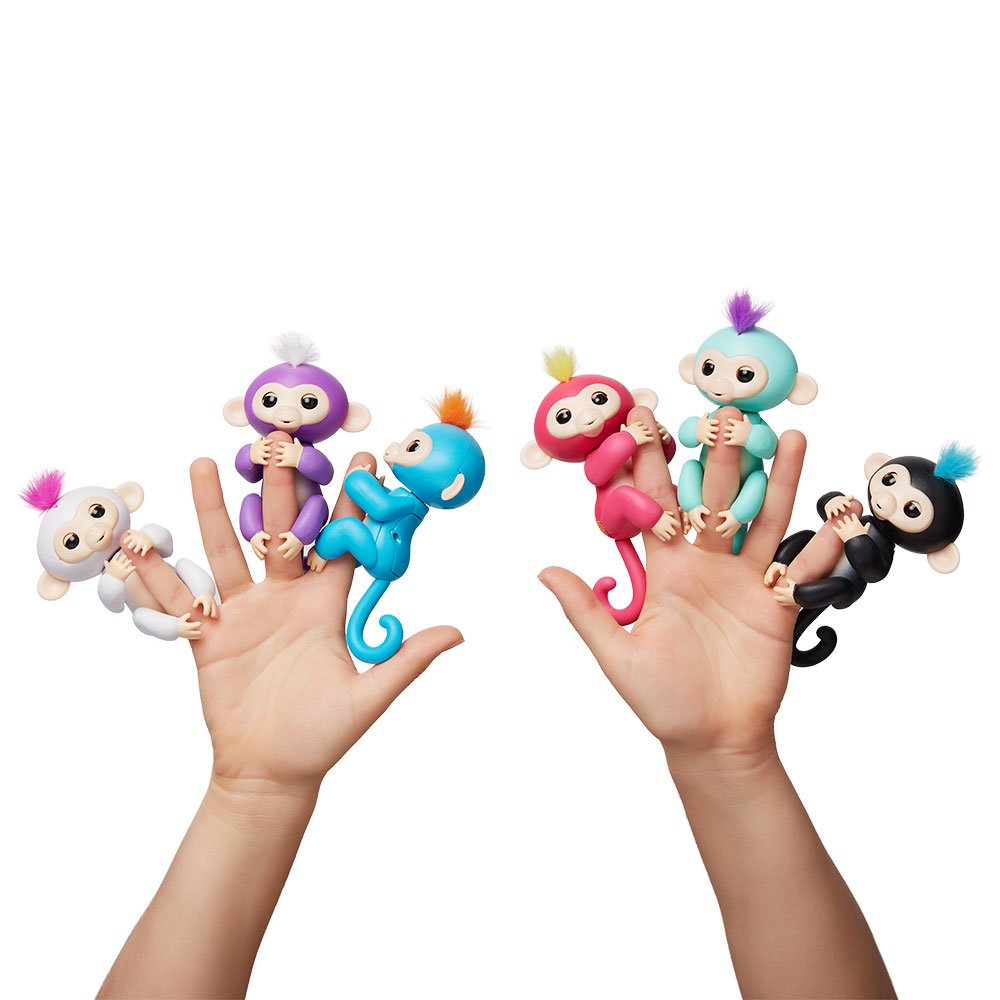 Fingerlings - Interactive Baby Monkey- Boris (Blue with Orange Hair) By WowWee by WowWee (Image #7)