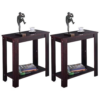Amazon.com: MasterPanel - 2PC Chair Side Table Coffee Sofa ...