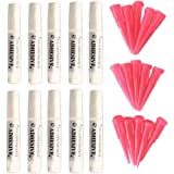 Brostown Pet 10 Adhesive Glues & 15 Applicator Tips for Cat or Dog Nail Caps
