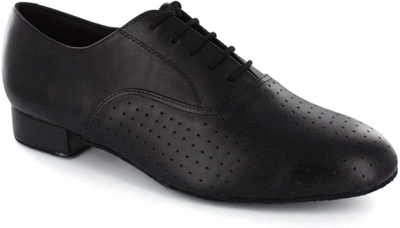 Minitoo® - Zapatos de Baile Latinos de Estilo balancín para Hombre, de Piel, para Bailes