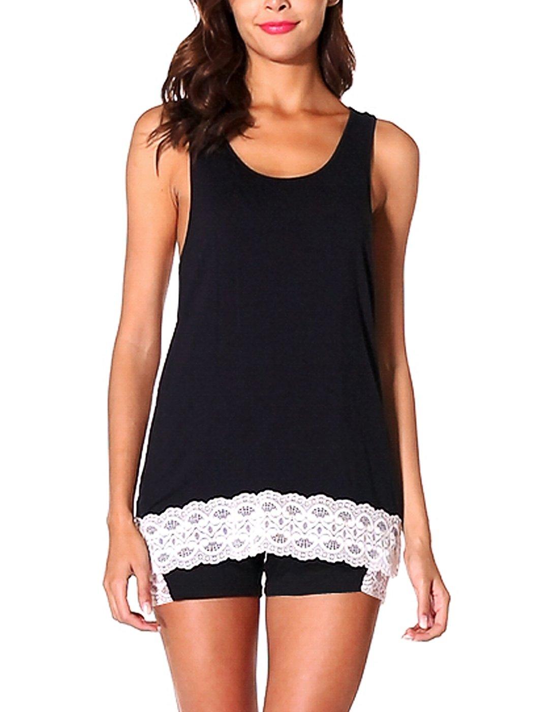Avidlove Lace Pajama Shorts Set Sexy Women Night Sleepwear S-2XL