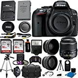 Nikon D5300 24.2 MP CMOS Digital SLR Camera (Black) With Nikon 18-55mm f/3.5-5.6G VR II AF-S DX NIKKOR Zoom Lens + 32GB Accessory Bundle International Version (No Warranty)