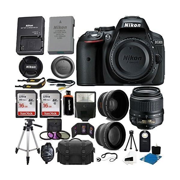 619hl%2B5UXCL. SS600  - Nikon D5300 24.2 MP CMOS Digital SLR Camera (Black) with Nikon 18-55mm f/3.5-5.6G VR II AF-S DX NIKKOR Zoom Lens + 32GB…