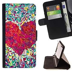 Dragon Case - FOR Samsung Galaxy S4 Mini i9190 - Love deeply and ardently - Caja de la carpeta del caso en folio de cuero del tir¨®n de la cubierta protectora Shell