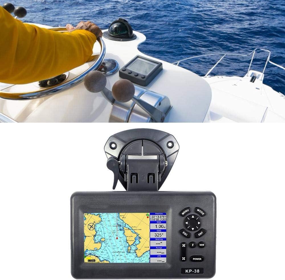 Qiilu Navegador satelital marino, GPS LCD a color de 5 pulgadas IPX5 Plotter marino resistente al agua Navegador satelital: Amazon.es: Coche y moto