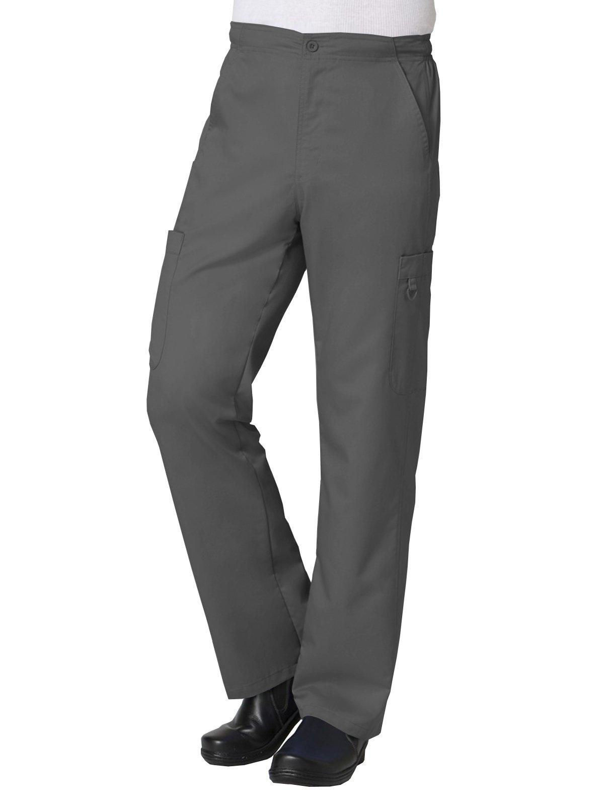 EON Men's Coolmax Half-Elastic Drawstring Waist Cargo Scrub Pant Medium Charcoal by Maevn