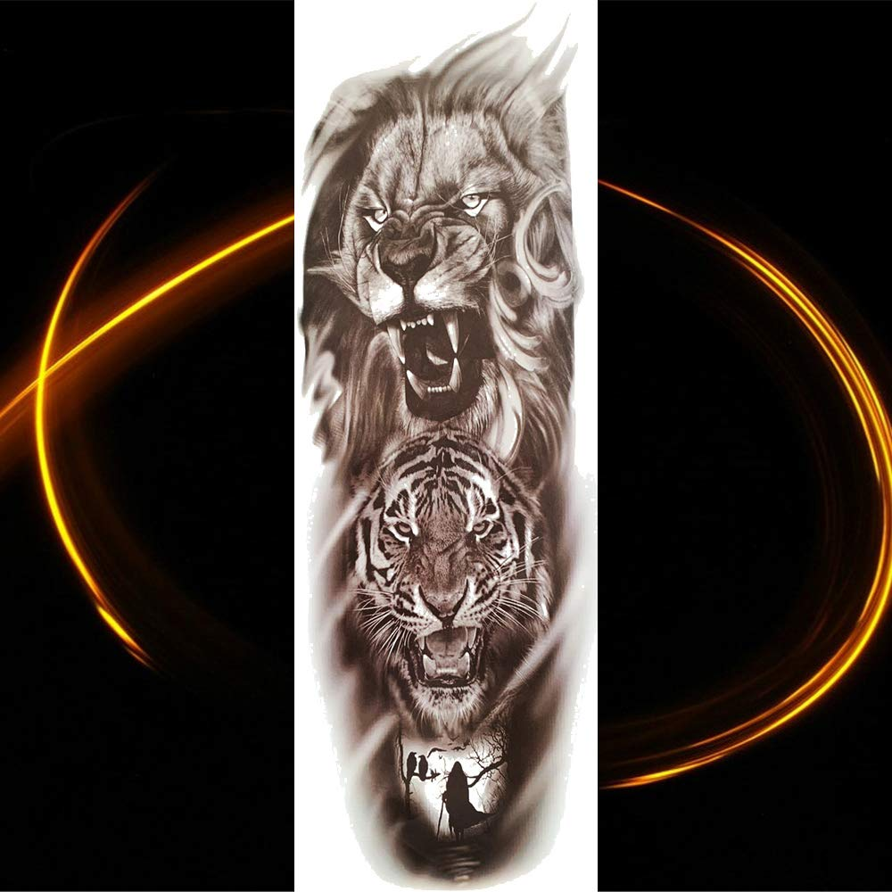 Yyoutop Bricolaje Brazo Completo Tatuaje Pegatinas 48 x 17 cm ...