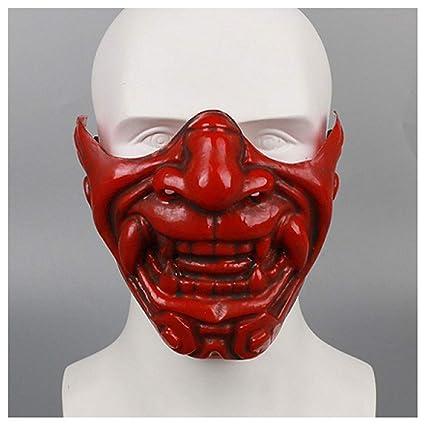 Máscara YN Cara Japonesa del Diablo de Kabuki Media Yin Yang Maestro ...
