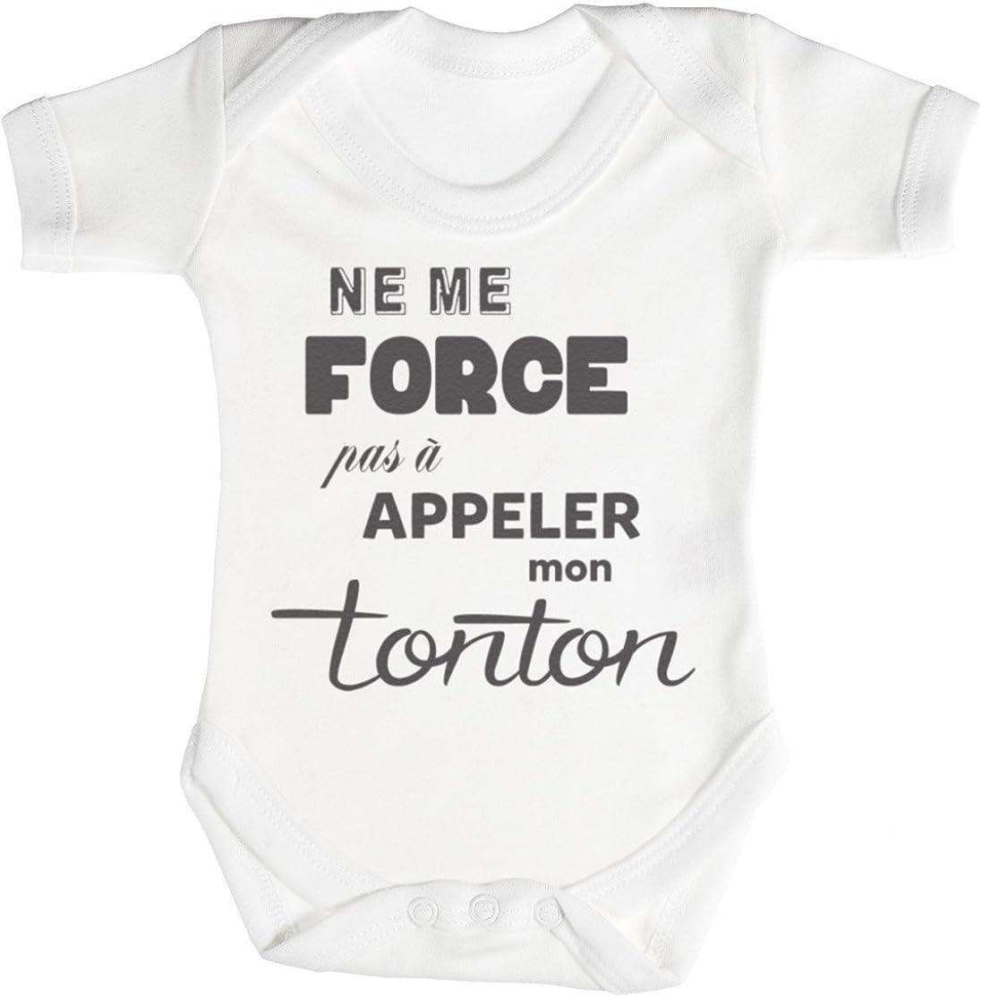 TRS Ne me Force Pas a Appeler Mon Tonton Body b/éb/é 100/% Coton