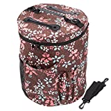 Knitting Bags and Totes,BCMRUN Knitting Organizers for YARN STORAGE,High Capacity,Durable,Portable, Light And Easy To Carry- Enjoy Knitting/Crocheting Anywhere,Protect Yarn and Prevent Tangling Brown