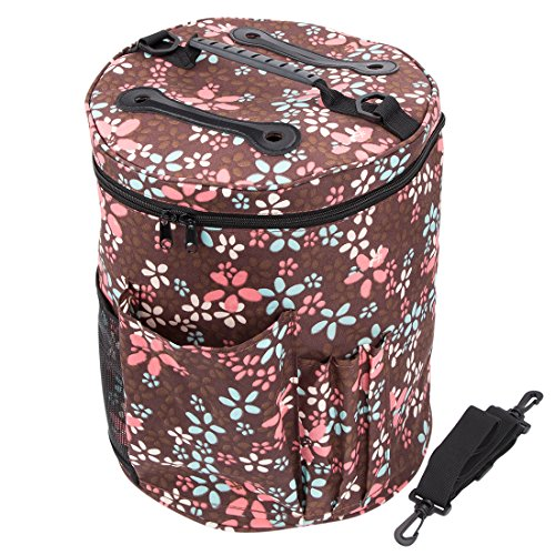 Knitting Bags and Totes,BCMRUN Knitting Organizers for YARN STORAGE,High Capacity,Durable,Portable, Light And Easy To Carry- Enjoy Knitting/Crocheting Anywhere,Protect Yarn and Prevent Tangling Brown by BCMRUN