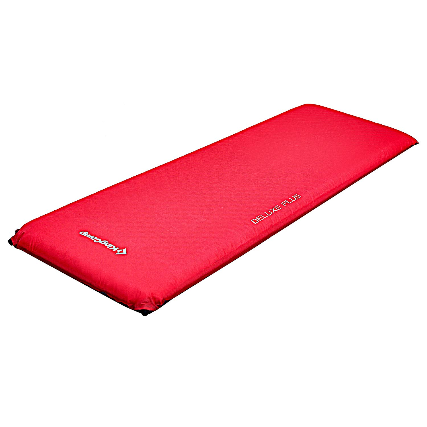 KingCamp Camping Sleeping Pad Foam Mattress - Deluxe Plus Self Inflating 4 inches Thick Pad with Carry Bag, Suitable for Family Outdoor Activities (Red-Deluxe Plus) by KingCamp