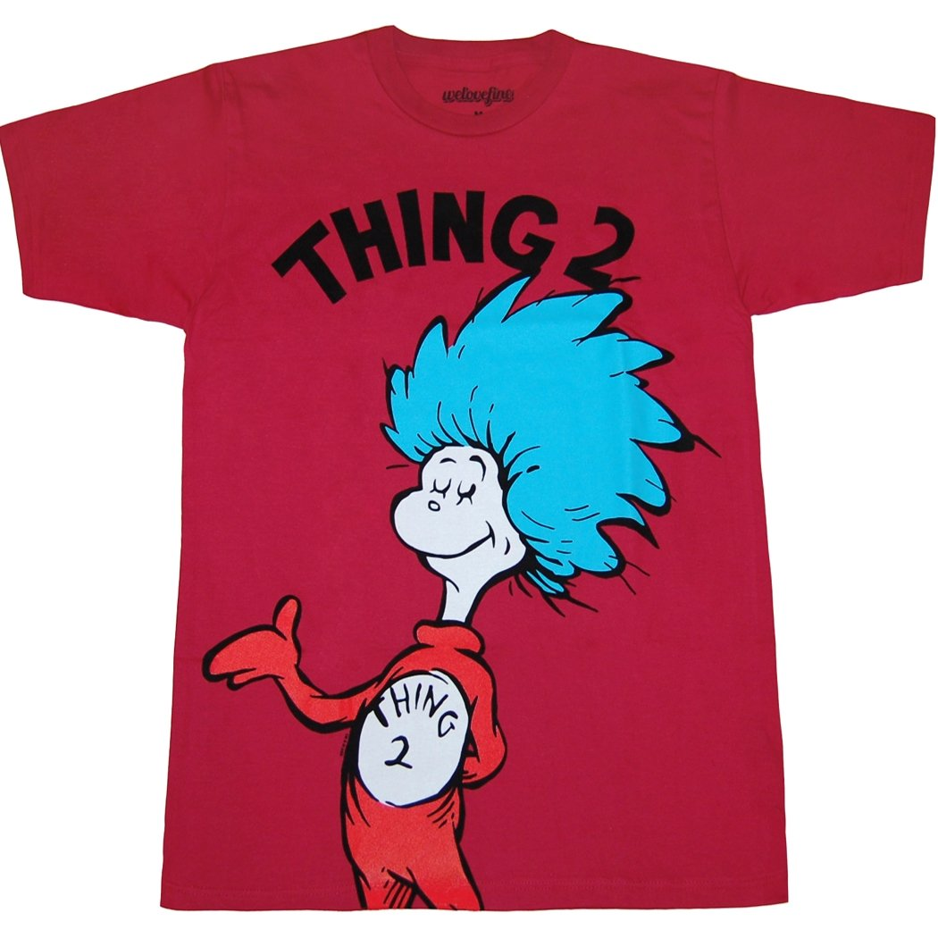 Dr. Seuss Thing 2 T-Shirt-XX-Large
