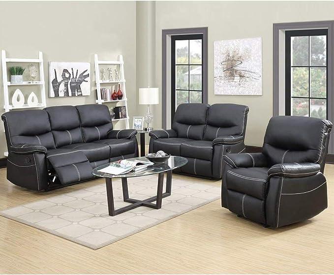 Amazon.com: Sofá reclinable 3 piezas Sofá Loveseat ...