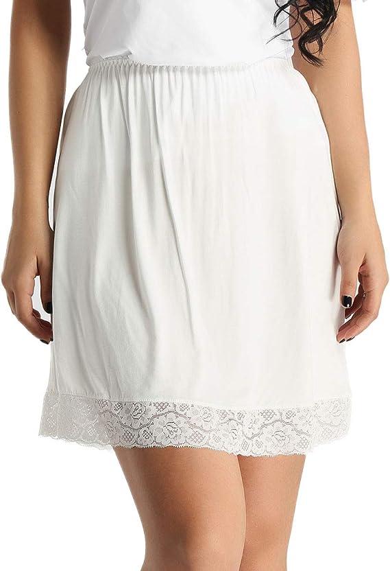 Chictry Jupons Femme Jupon Mini Combinaison Femme Underwear Jupon Sous Robe Jupe Lingerie Sous Vetements En Coton Blanc One Size Amazon Fr Vetements Et Accessoires