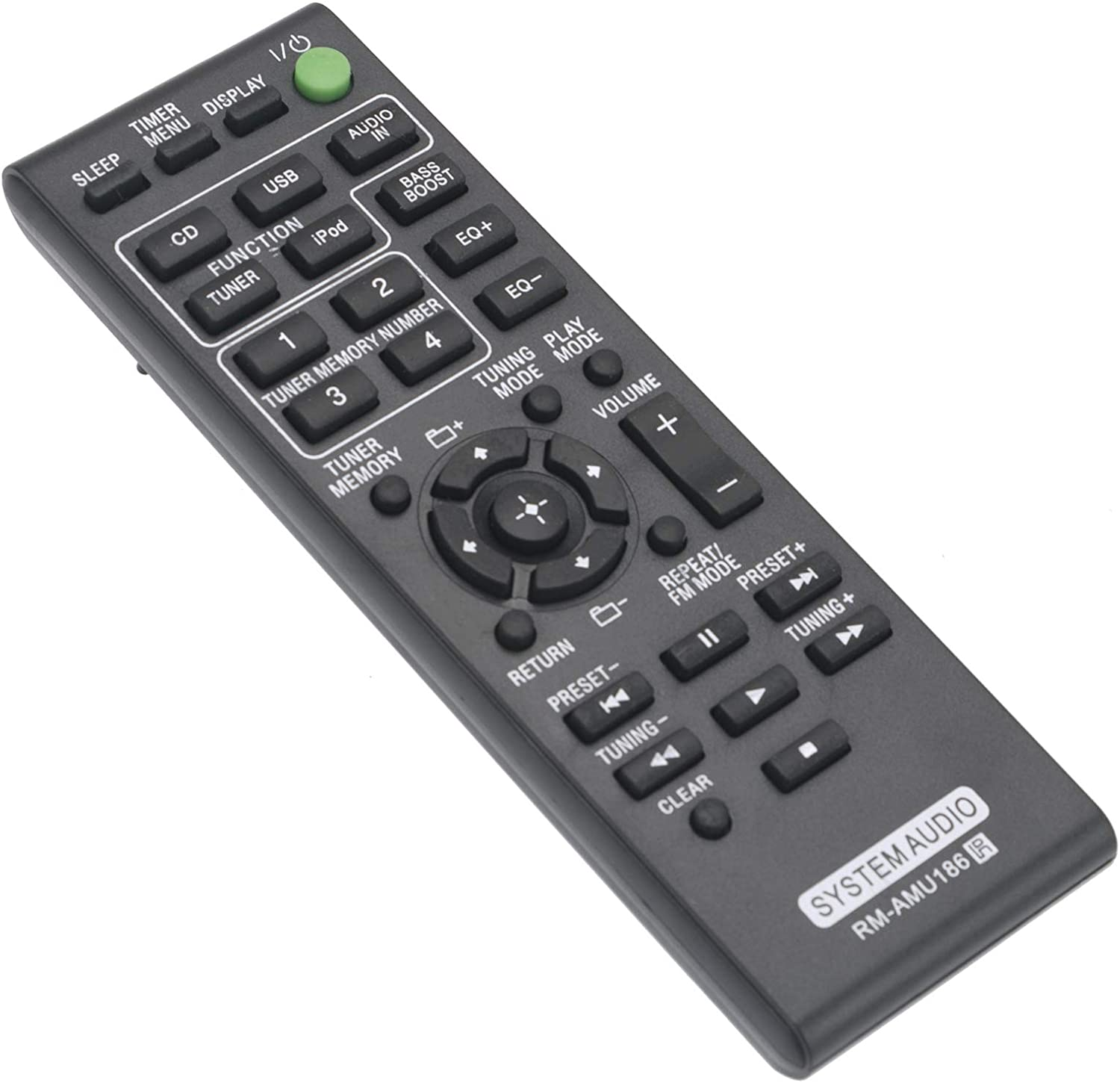 New RM-AMU186 Replacement Remote Control RMAMU186 fit for Sony Music Audio Stereo System MHC-EC719iP MHC-EC919iP MHC-EC619iP HCD-EC719iP HCD-EC919iP MHCEC719iP MHCEC919iP MHCEC619iP HCDEC719iP