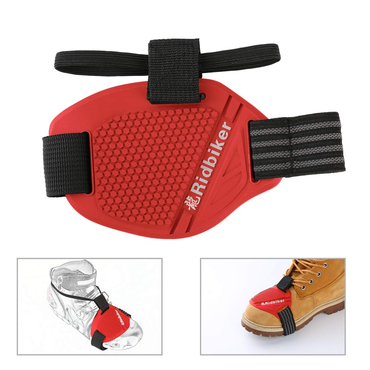 Red Ⅲ Ridbiker Motorcycle Motorbike Shift Pad Shoe Boot Cover Protective Gear