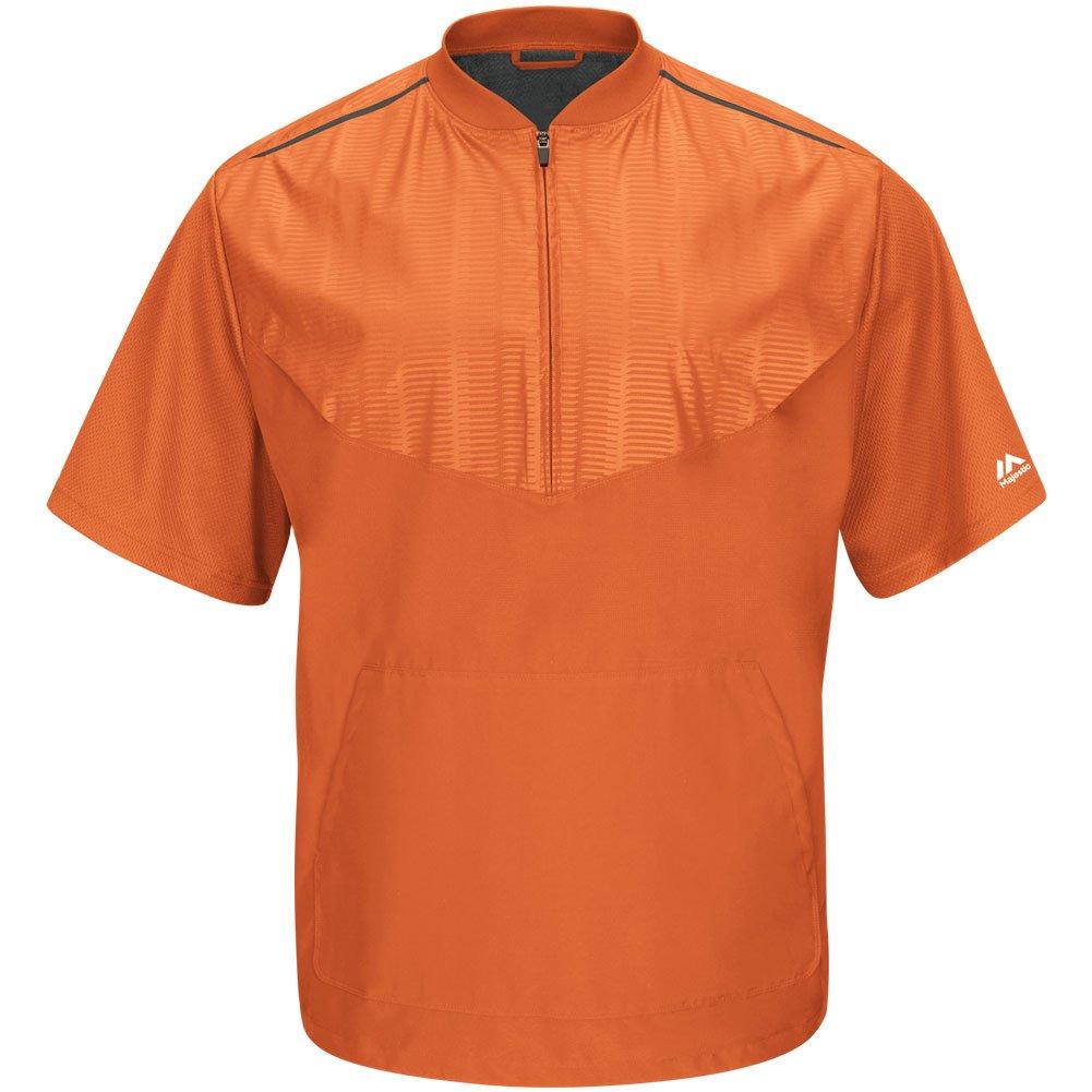 Majestic Youth Cool Base半袖トレーニングジャケット B015G7AIB2 Medium Orange Grey Orange Grey Medium