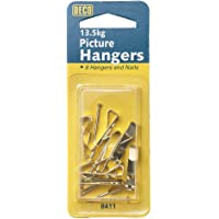Deco 8411 Picture Hangers, Pack of 8,Gold