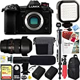 Panasonic Lumix DC-G9 Mirrorless Micro Four Thirds Digital Camera Body - Rokinon 14mm f/2.8 Lens 64GB Dual Battery & Shotgun Mic Pro Video Bundle