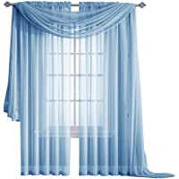 """Warm Home Designs 1 Pair of Quality Color Sheer Window Curtains or Scarf. Each Window Panel is 56"""" X 84"""" and Scarf is 56"""" X 216"""" in Size. Color:"""