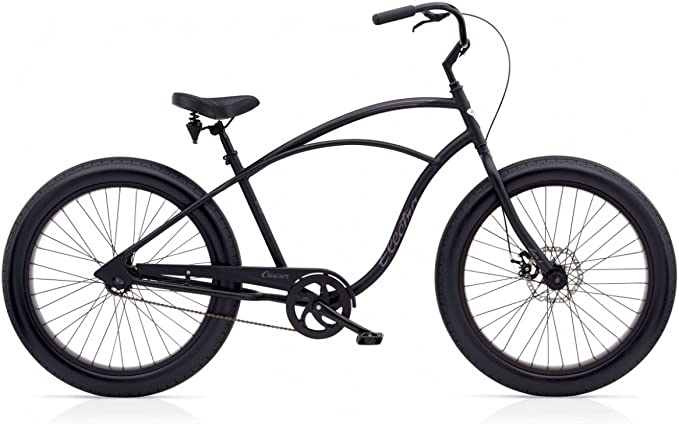 ELECTRA Cruiser Lux 1 Fat Tire Hombres Mate Negro: Amazon.es ...
