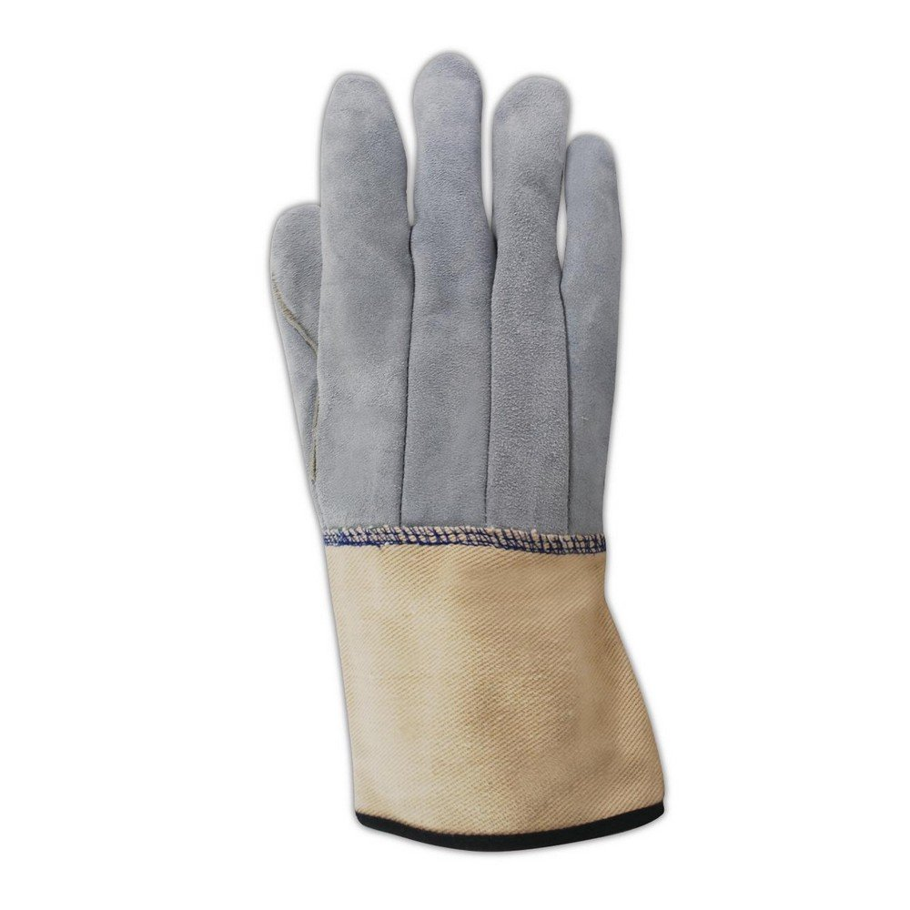 Magid Glove & Safety T4500DCWL Magid WeldPro Full Leather Welding Gloves, 10, Tan Gray , Large (Pack of 12)