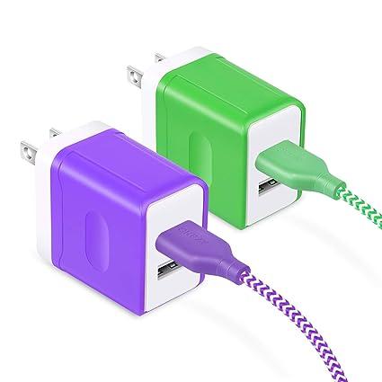 Amazon.com: OKRAY - Cargador de pared con 2 puertos USB de ...