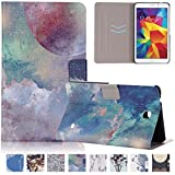 Galaxy Tab 4 8.0 inch Case, UUcovers(TM) Ulra Slim Creative Cartoon Flip Magnetic Stand Protective Case with Auto Sleep/Wake Function Smart Shell for Samsung Galaxy Tab 4 8.0 T330 (Starry Sky)