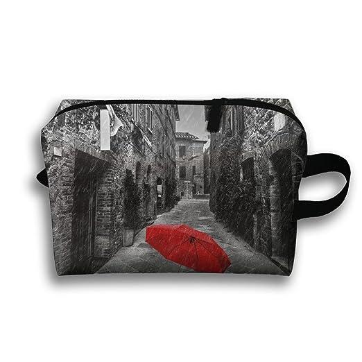 Red Umbrella On A Dark estrecha calle portátil multifunción ...
