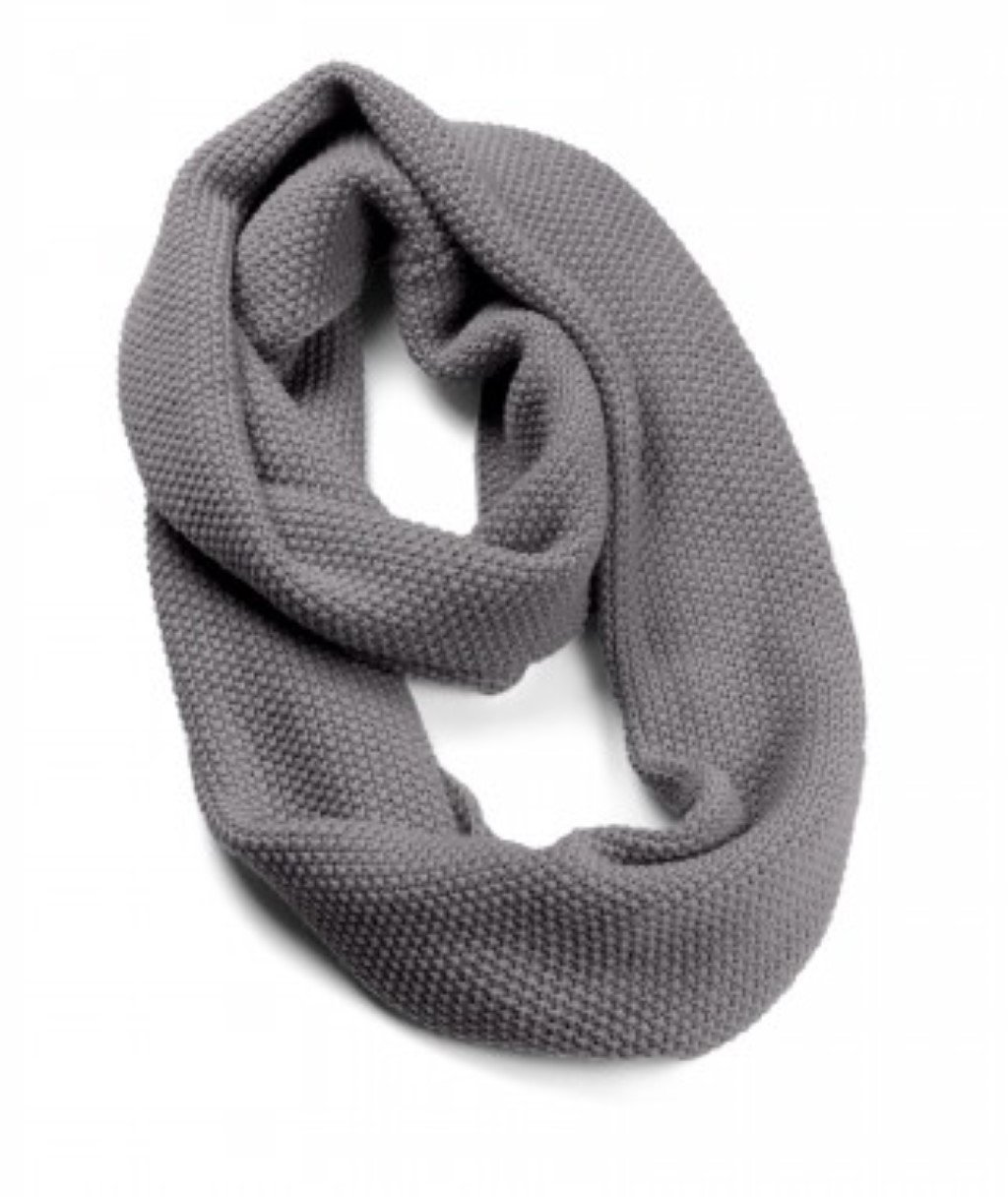 Sprigs Winter Infinity Scarf (Charcoal Gray)