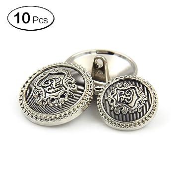 10 piezas Metal Blazer botón Set - Badge diseño británico ...