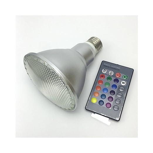 E27 Control Remoto impermeable de aluminio LED RGB Bombilla Par38, PAR30 10W 20W Highligh AHORRO