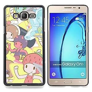 """Qstar Arte & diseño plástico duro Fundas Cover Cubre Hard Case Cover para Samsung Galaxy On7 O7 (Pixies lindos dibujos animados"""")"""
