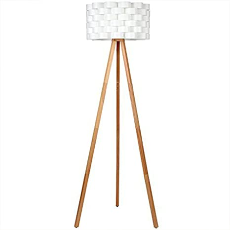 Brightech Bijou LED Tripod Floor Lamp Mid Century Modern Standing - Tall lamps for bedroom