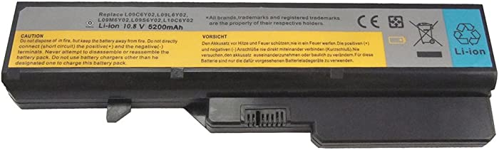 Bay Valley Parts 6-Cell 10.8V 5200mAh New Replacement Laptop Battery for Battery for Lenovo IdeaPad G570 G560 G470 G460 V570 V470 V360 Z480 B570 L09S6Y02