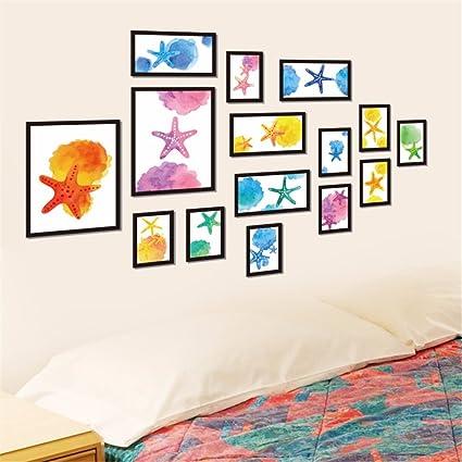 ALLDOLWEGE Habitación personalizada acuarela marco de fotos ...