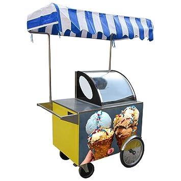 Carro de helado con empuje de mano para helado o helado, para bici ...