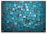 Oil Painting Abstract Modern Contemporary Art on Canvas Wall Decor Blue Squares