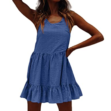 Vestido Fino de la Falda Plisada del Chaleco del Flash del Verano ...