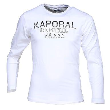 4967d74af28ea Kaporal - Tee Shirt Garçon Ronio Optical White - Couleur Blanc - Taille 16  Ans