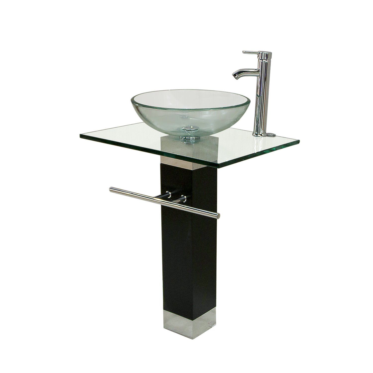 23 Inch Modern Bathroom Vanities Tempred Glass Design Vessel Sink
