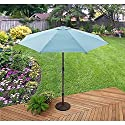 Aqua Blue 9 Foot Adjustable Tilt Patio Umbrella Outdoor Home Furniture Garden