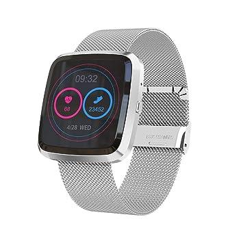 Smart Watch Bracelet, Fulltime® Femme Homme T5 Sport Montre Connectée Coeur Taux de Tension Artérielle Doxygène Moniteur (Argent)