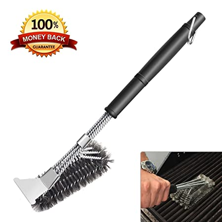 BBQ Tools & Accessories Home & Garden 3in1 Bristles Cleaning