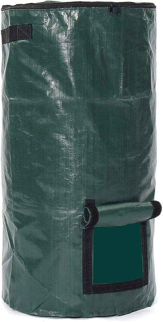 Robasiom Compostador orgánico bolsa convertidor de residuos bolsa de almacenamiento para abono de jardín, fertilizante 45 x 80 cm: Amazon.es: Hogar