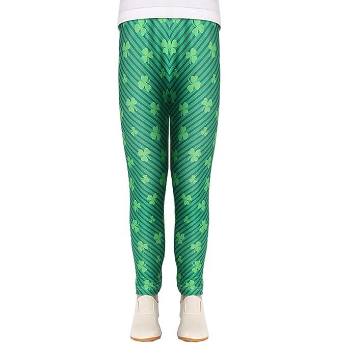 Jaysis Pantalones Largas Verdes para el Día Nacional de ...