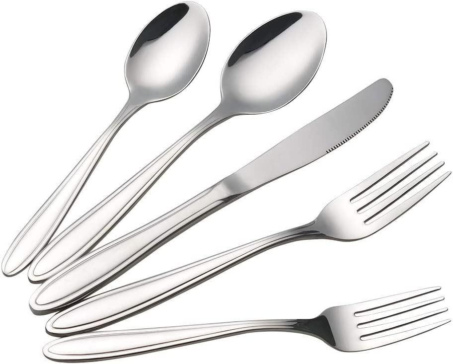 Utiao Stainless Steel Flatware Sets, Silverware Set Service for 6, 30 Pieces